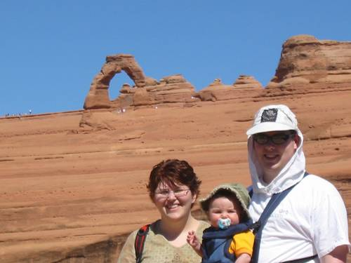 Lance family at Arches
